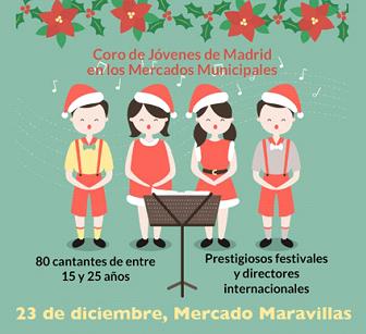 El Coro de Jóvenes de Madrid en el Mercado Maravillas