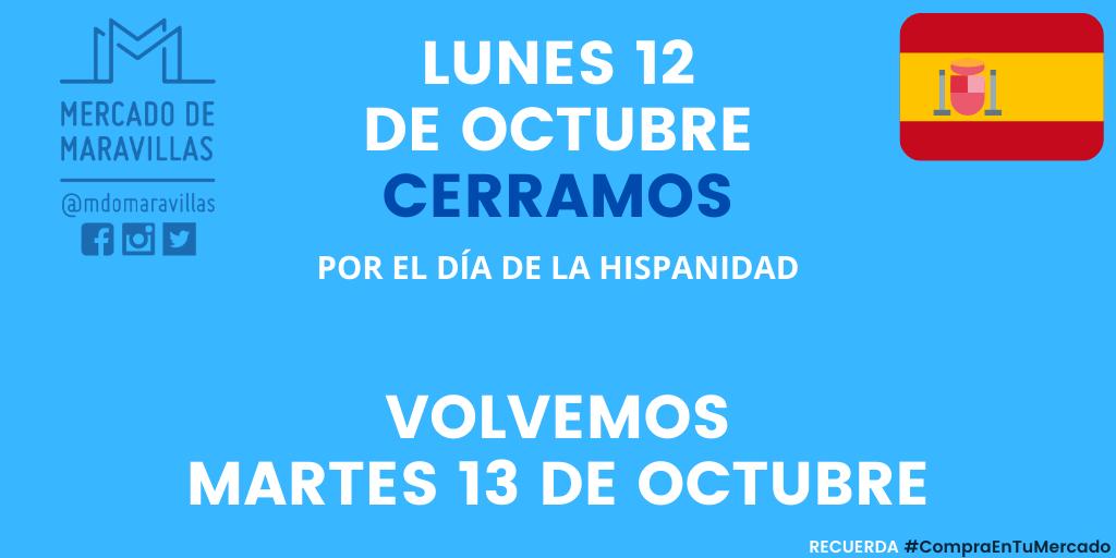 Lunes 12 octubre CERRADO