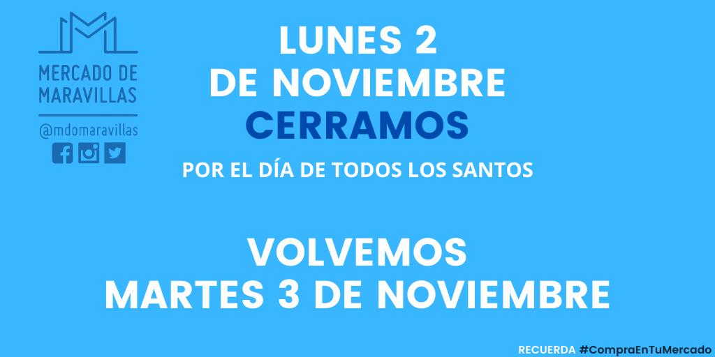 Lunes 2 de noviembre cerrado